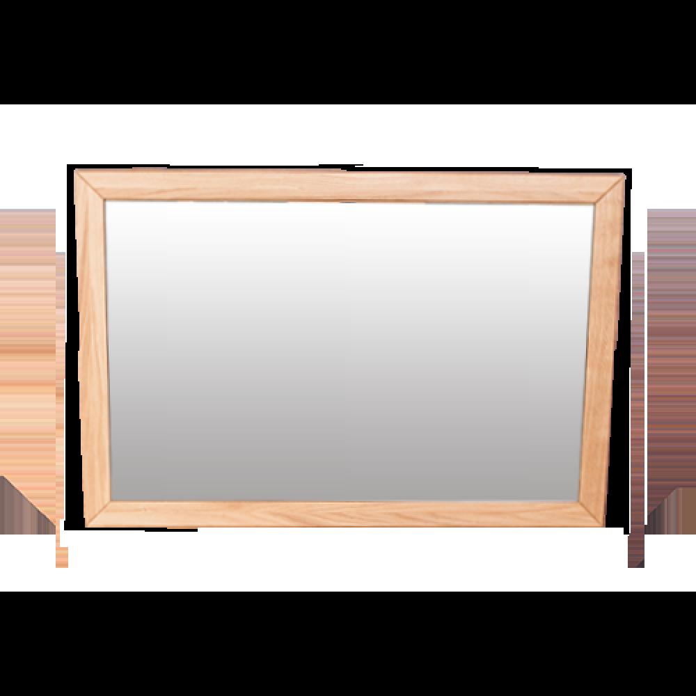 Anna Natural Solid Oak Mirror image