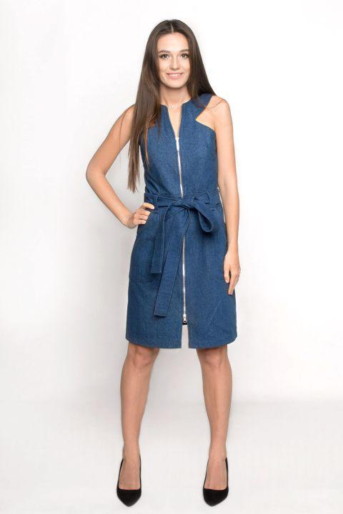 GANVERI Women's Denim Dress, Dark Blue image