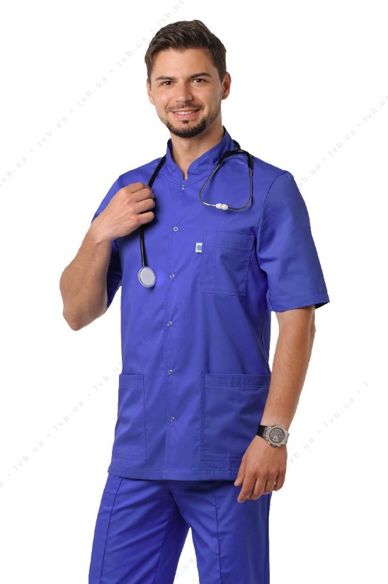 Men's Medical Suit with Short Sleeves image