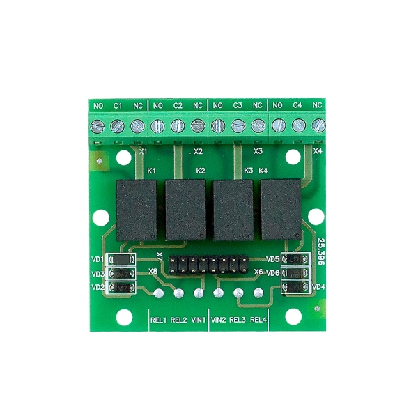 M-OUT4R Module for the TIRAS PRIME Fire Alarm Systems, 4 Relay Outputs image