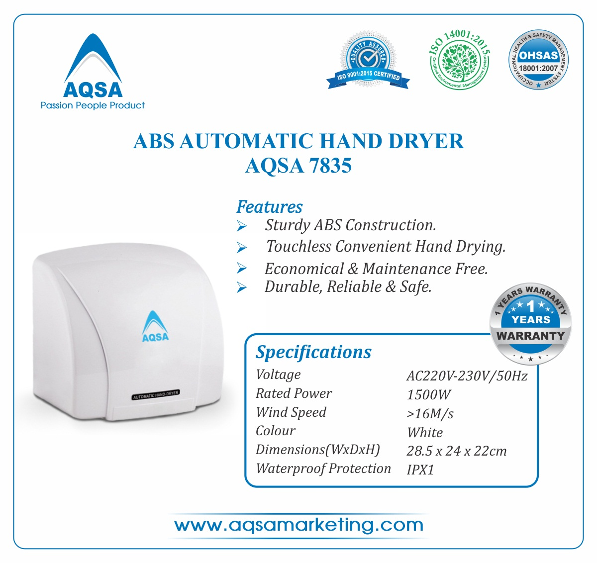 ABS Automatic Hand Dryer image