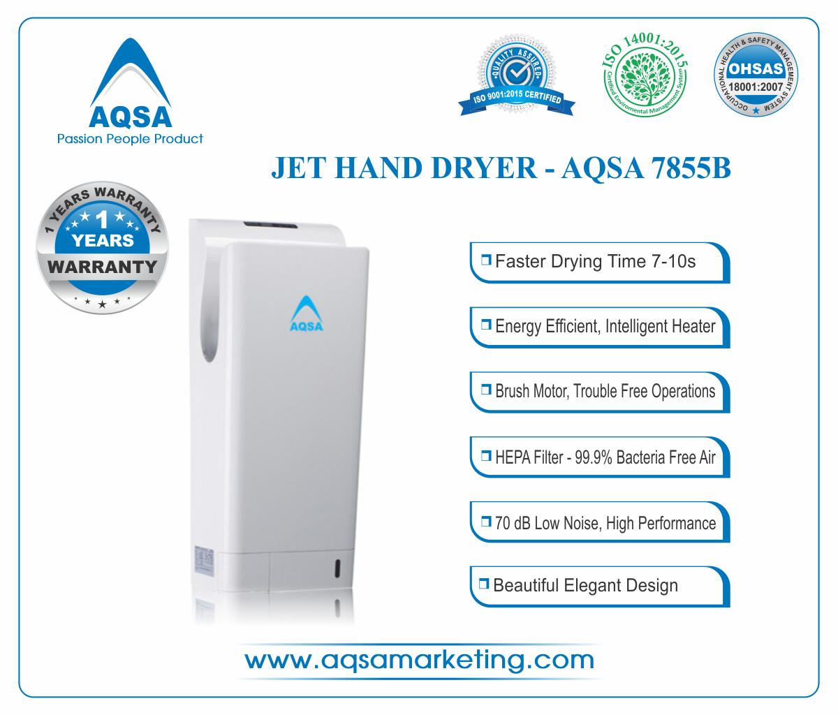 JET Hand Dryer AQSA-7855 B image