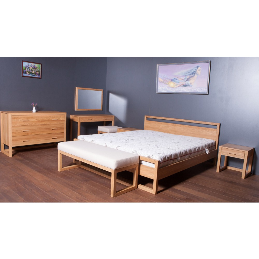 Anna Natural Solid Oak Bedroom Set image