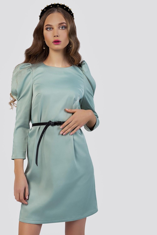 Puff sleeve mini dress image