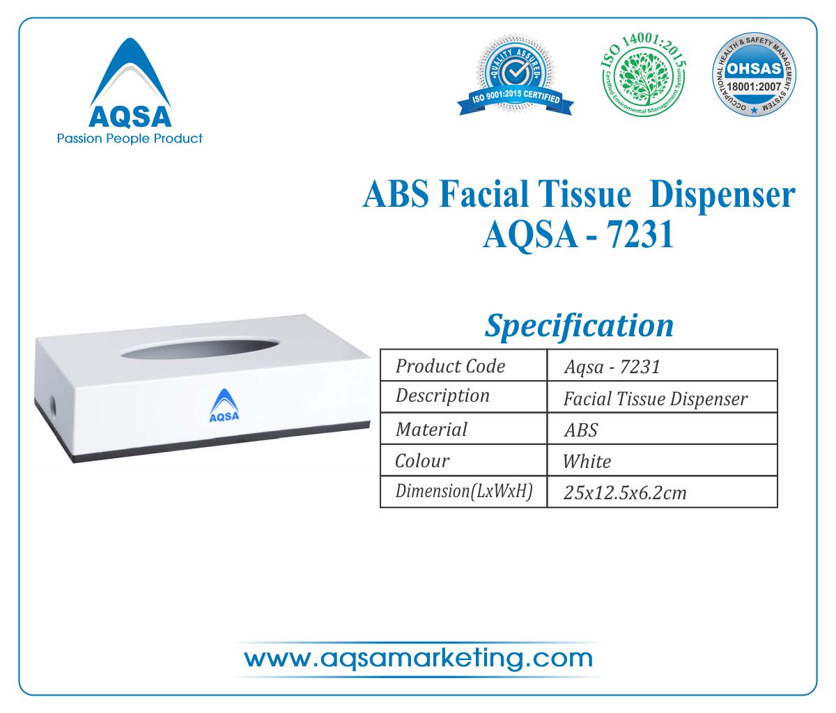ABS Facial Tissue Dispenser AQSA-7231 image