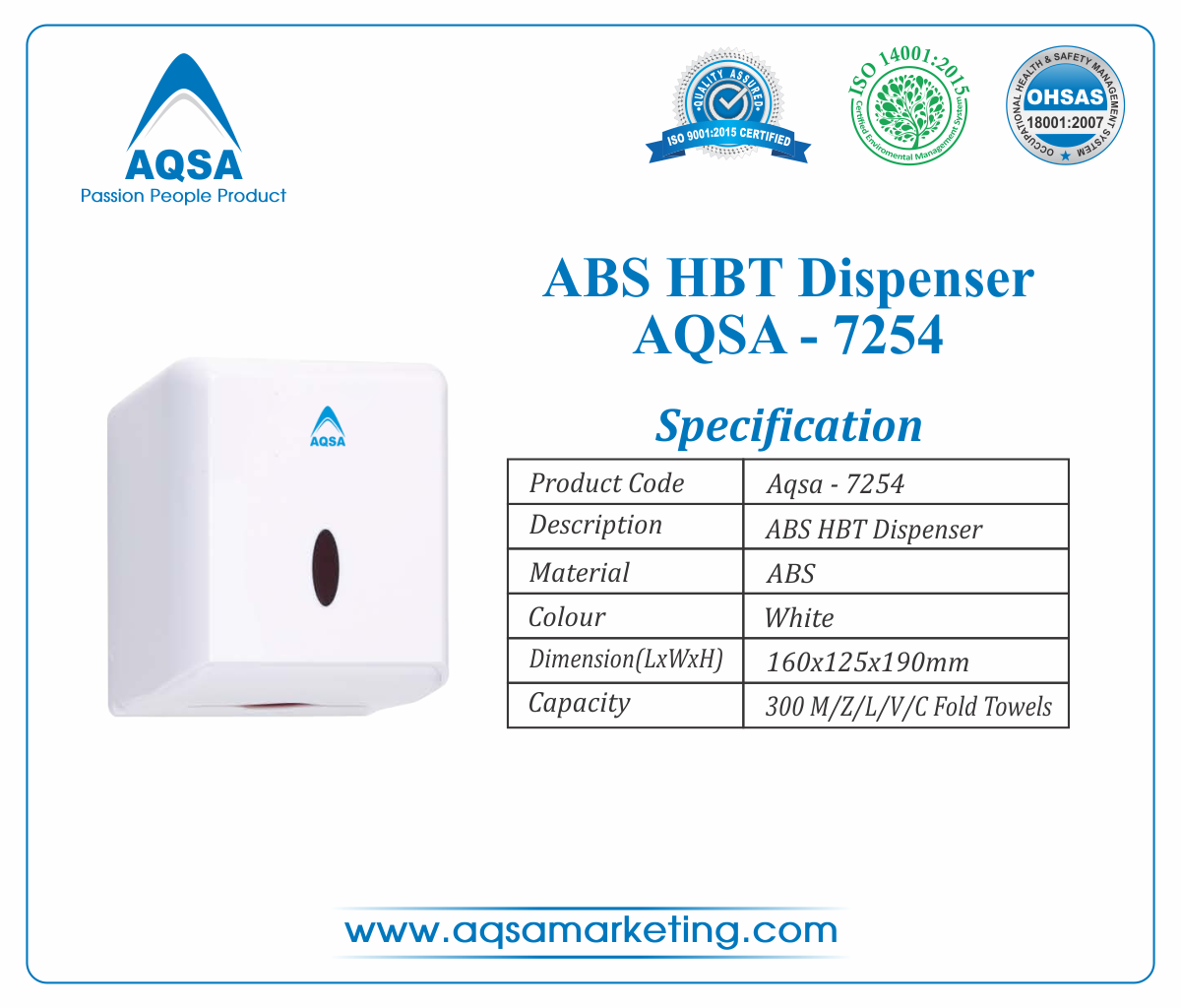 ABS HBT Dispensers AQSA-7254 image