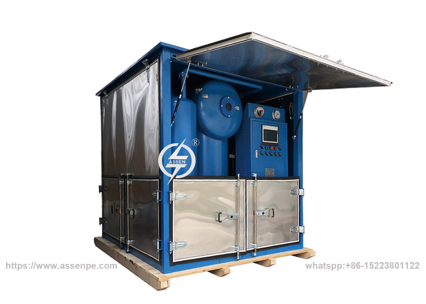 Double-stage High vacuum Transformer Oil Purifier,Online Transformer Oil Filtration Plant image