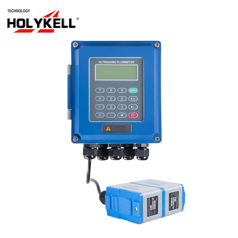 Holykell 15Mm-6000Mm China Portable Ultrasonic Water Flow Meter image