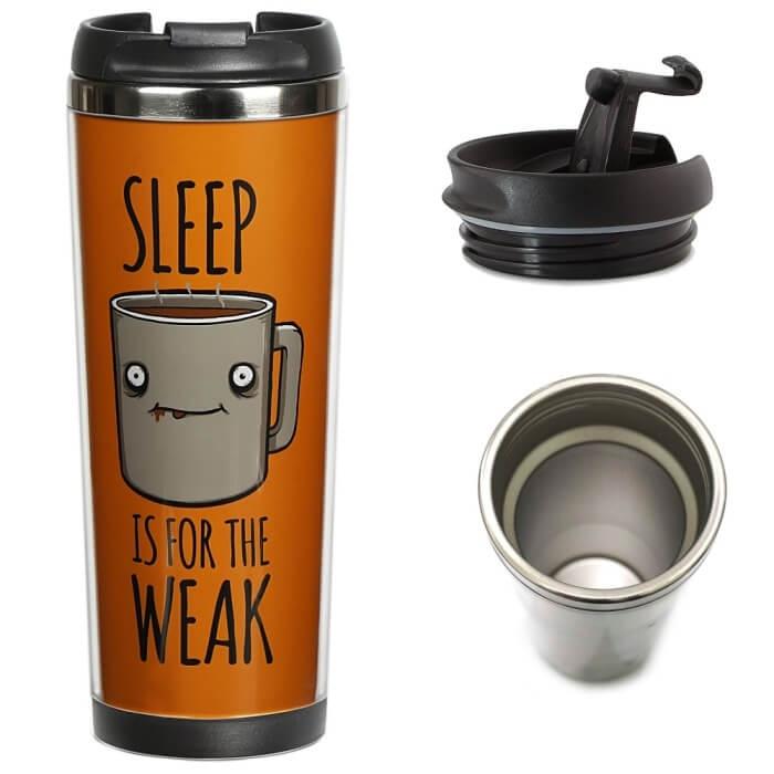 Sleep Is for the Weak ZIZ Thermal Cup / Travel Mug, 380 ml image