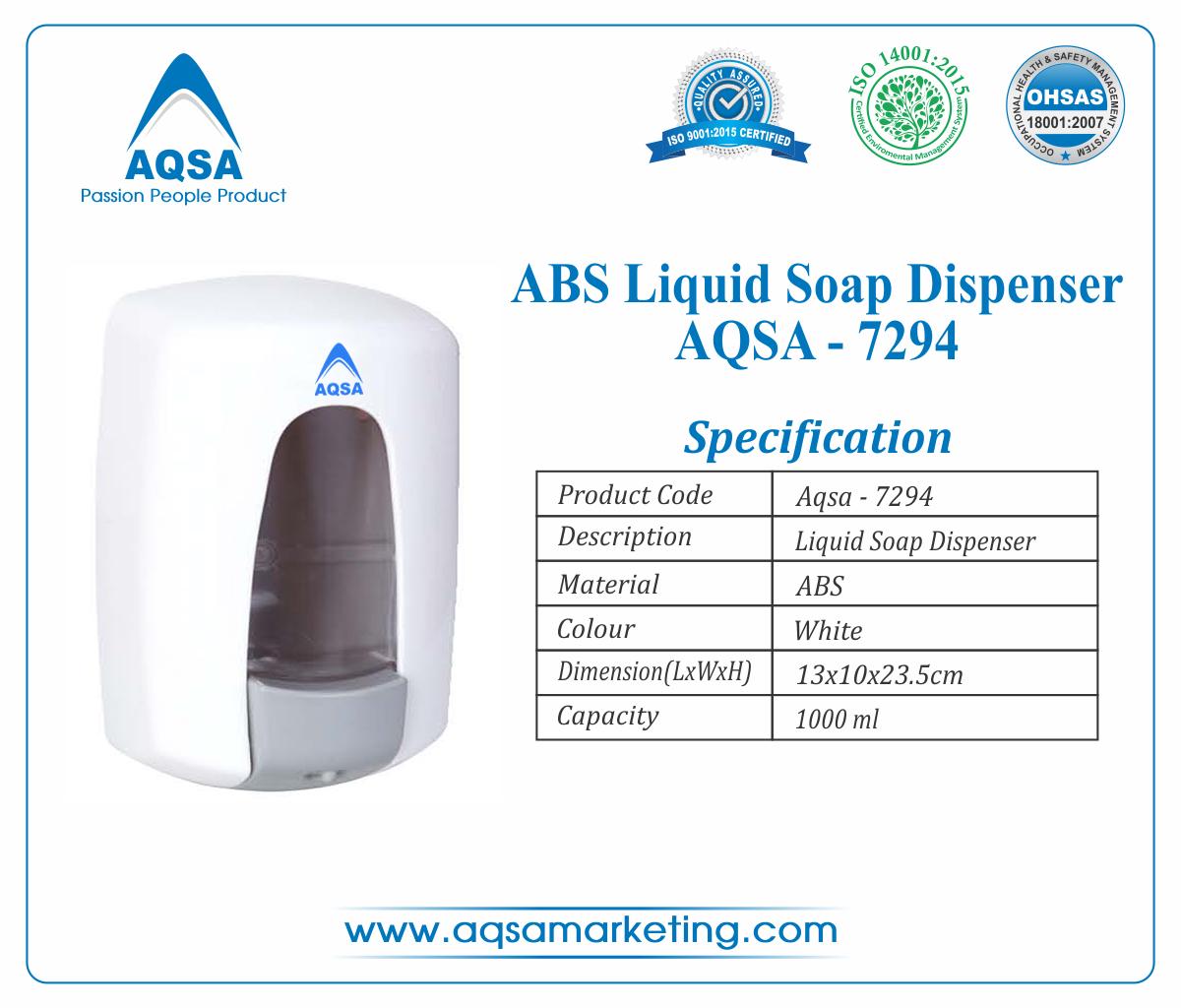 ABS Soap Dispenser  1000 ml AQSA-7294 image