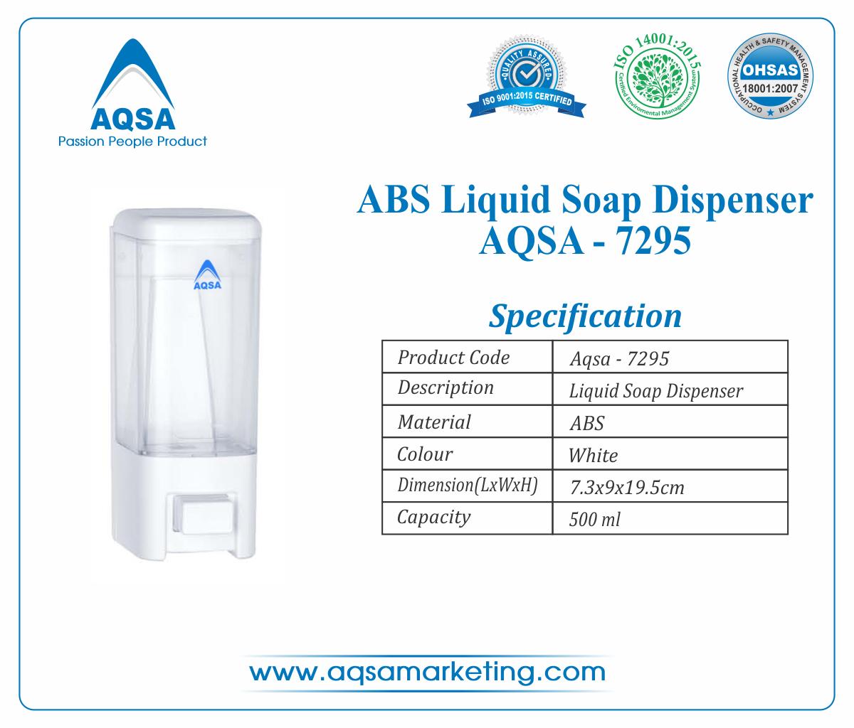 ABS Soap Dispenser  500 ml AQSA-7295 image
