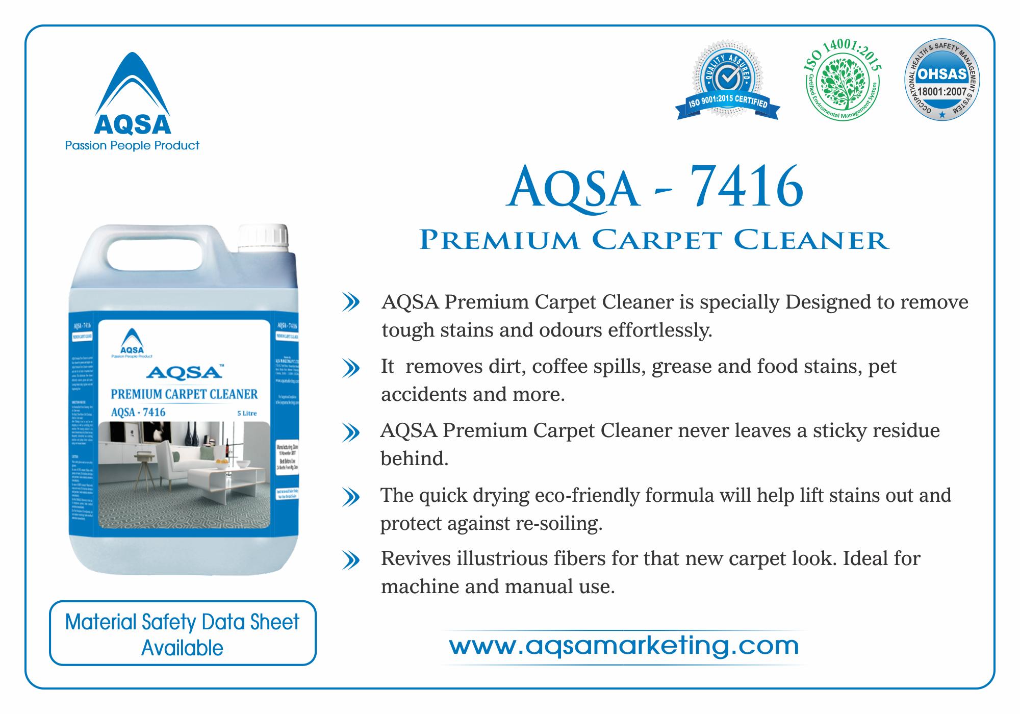 Premium Carpet Cleaner AQSA-7416 image