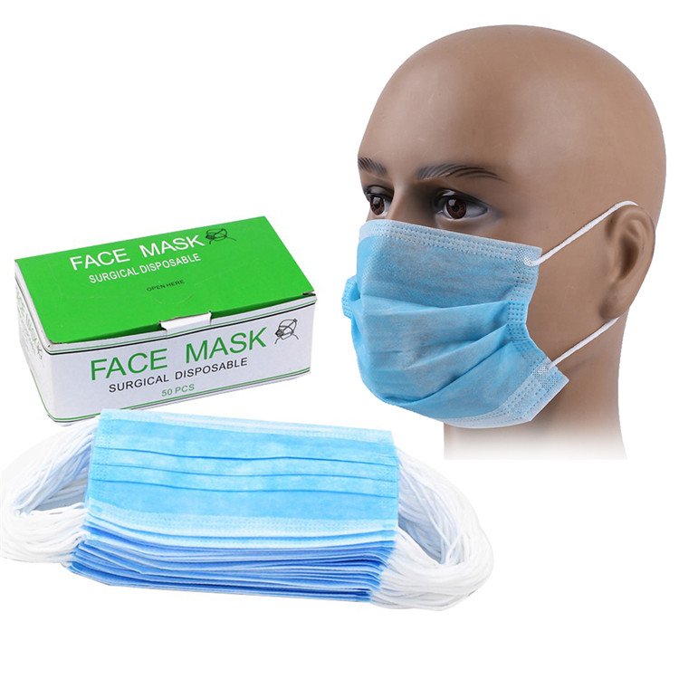 Wholesale Cheap Disposable Non-woven Eco-friendly Fabric Face Mask For Workers Hospitals image