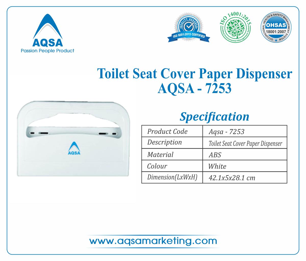 Toilet Seat Cover Paper Dispenser AQSA-7253 image