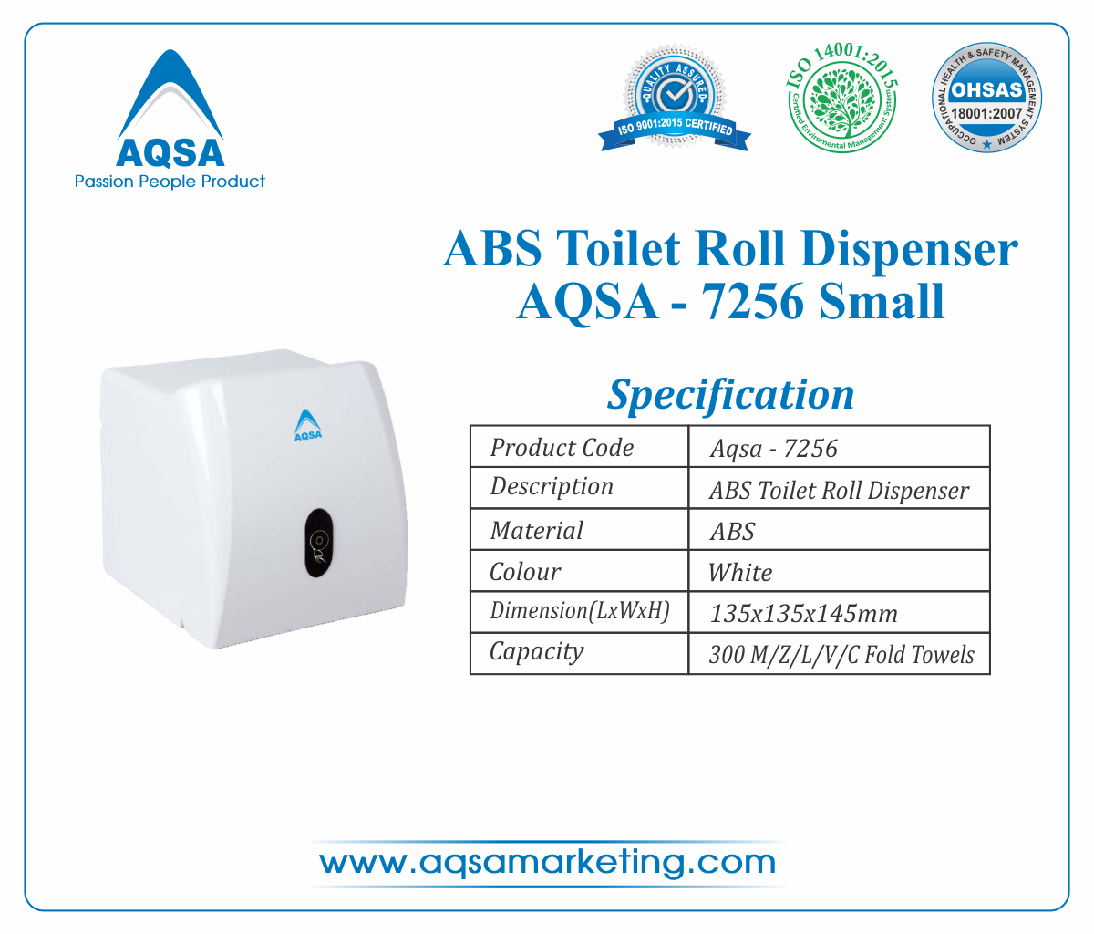 ABS Toilet Roll Dispensers AQSA-7256 Small image