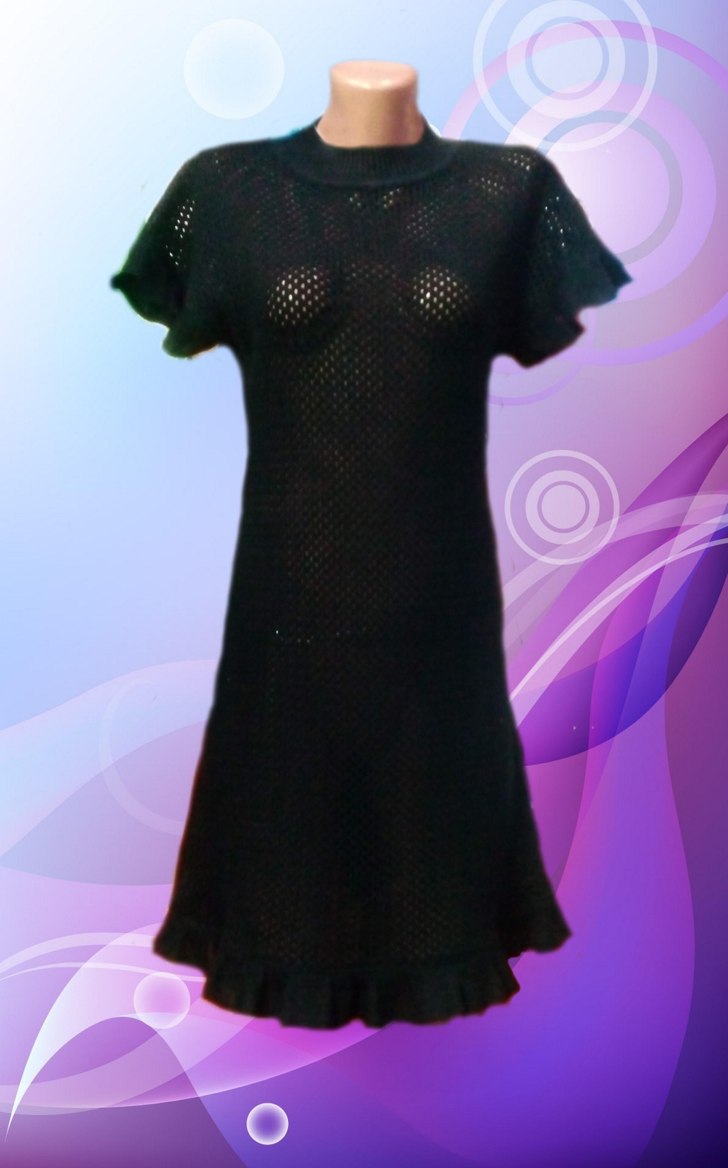 Dress women's mesh knitted image