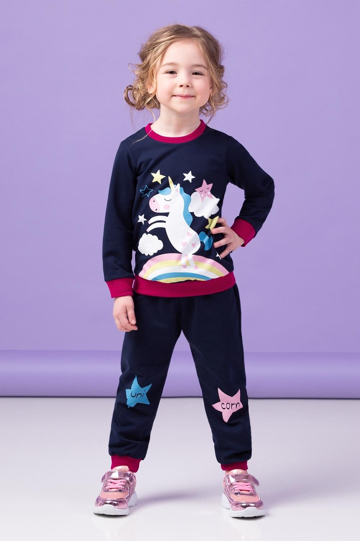 Zironka Kids Girls' Unicorn Sports Tracksuit, Long-Sleeved image